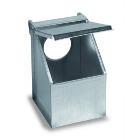 FARMTIGER - Futterautomat für Tauben und Rebhühner, 1 Abteil, Futtersilo, Futtertrog