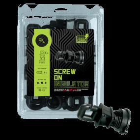 ZONEGUARD - Isolator Schraube Rundpfosten ø 14mm, für Draht
