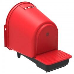 Kunststoff Nestbox (Legenest, Nistkasten, Hühnernest),  für die Aussenseite des Stalls/Käfigs