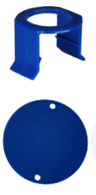 MILK BAR - Vitality 5 Saugerklammern und 5 Stallmarkierungen Blau