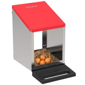 """Legenest """"Tiger"""" für Hühner aus Metall - zum Hängen oder Stellen, 1 Abteilung, Eierfach"""