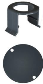 MILK BAR - Vitality 5 Saugerklammern und 5 Stallmarkierungen Grau