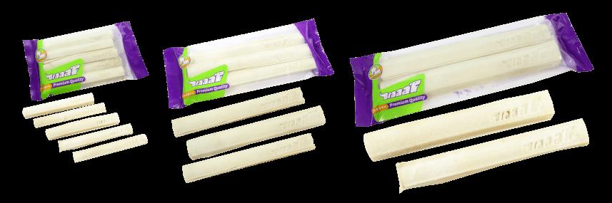 Braaaf White Rawhide Pressed Sticks 25 cm (2 pcs)