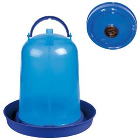 """Geflügeltränke """"Eco"""" 8 Liter mit Deckel – Blau, Geflügeltränke"""