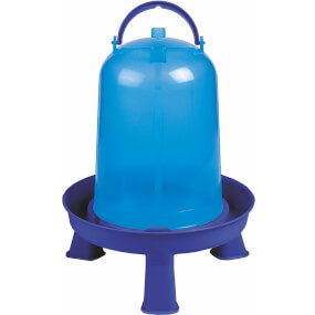 """Geflügeltränke """"Eco"""" 8 Liter mit Stand Füße – Blau, Geflügeltränke"""