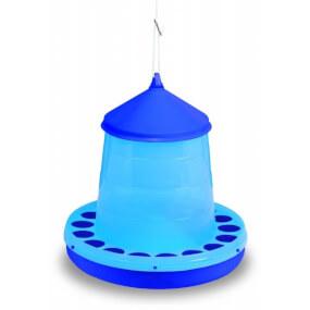 Kunststoff Geflügelfutterautomat 4kg, blau