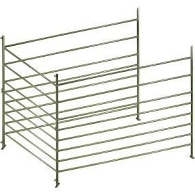 FARMTIGER - Panel für Schafe und Ziegen aus grün lackiertem Aluminium, Schafzaun, Weidepanel