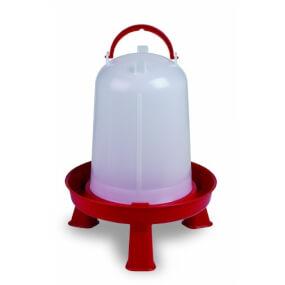 """Geflügeltränke """"Eco"""" 5 Liter mit Stand Füße – Rot"""