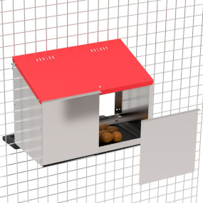 """Legenest """"Tiger"""" für Hühner aus Metall - 2 Abteilungen, zur Anbringung am Stall"""