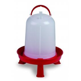 """Geflügeltränke """"Eco"""" 8 Liter mit Stand Füße – Rot"""