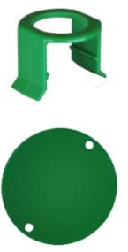 MILK BAR - Vitality 5 Saugerklammern und 5 Stallmarkierungen Grün
