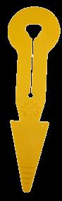 HAC - Pfeil I+R mit Schlitz gelb
