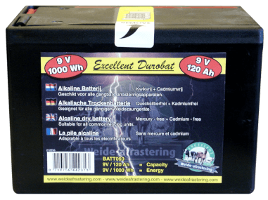HAC - Trockenbatterie Durobat 9V/120Ah (H11,4 x L16,6 x B11,2 cm)