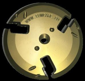 COWCARE - Klauenscheiben aluminium mit 6 auswechselbaren Wendemessern