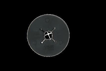 VPLAST - Gebisscheibe Pony 70 mm schwarz