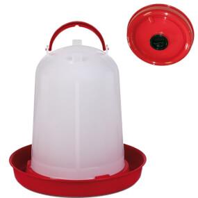 Geflügeltränke Eco 8 Liter, rot mit Befüll-Öffnung