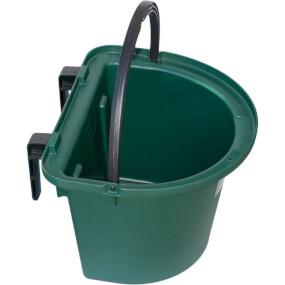 FARMTIGER - Futtertrog mit Einhängebügel und Tragegriff für Pferde, Kunststoff 13 Liter Grün