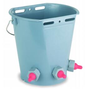 FARMTIGER - Tränkeeimer für Lämmer mit 3 Saugern, 8 Liter, Lammeimer