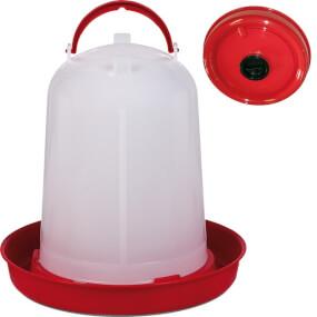Geflügeltränke Eco 10 Liter, rot mit Befüll-Öffnung