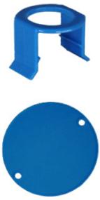 Milk Bar® VITALITY 5 Saugerklammern und 5 Stallmarkierungen Hell Blau