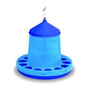 Kunststoff Geflügelfutterautomat zum Aufhängen 12kg, blau
