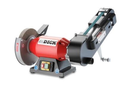 DICK - Bandschleifmaschine SM-100, mit Schleifband K150 55x1020 mm und K120 20x1020mm, Maße 325 x 455 x 470 mm