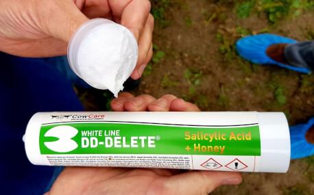 DD-DELETE - Gel White Line, kit cartridge mit mix tip of 360 g (300 ml) - Klauenpflege