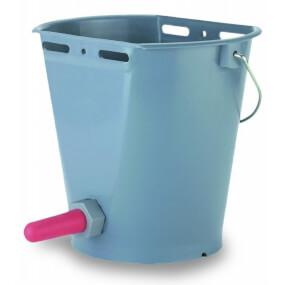 FARMTIGER - Tränkeeimer für Kälber mit Sauger und Ventil, 8 Liter, Kälbereimer, Kälbertränkeeimer