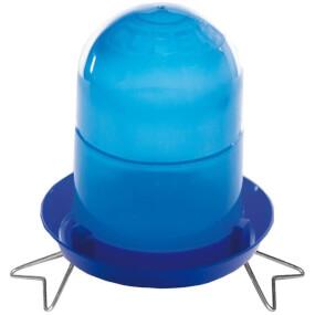 Blaue Tränke für Geflügelküken mit Standfüssen 2l