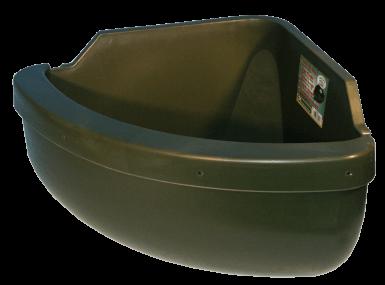 Futtertrog Eckmodel mit Anti-Kleckerrand 31 L EG