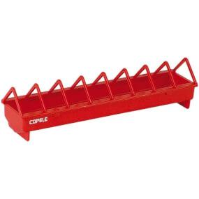 Kunststoff-Futtertrog für Hühner 50 cm (breite Gitterabstände)