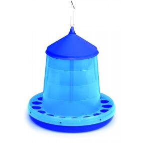 Kunststoff Geflügelfutterautomat 8kg, blau