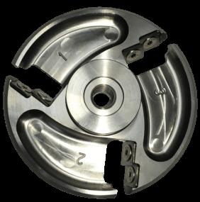 COWCARE - Klauenscheiben titanium mit 6 auswechselbaren Wendemessern