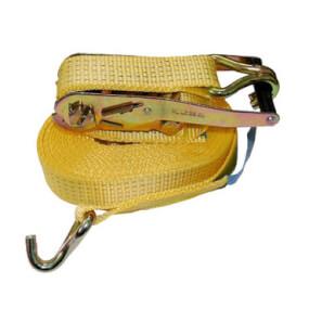 Zurrgurt gelb 2-teilig mit Spitzhaken