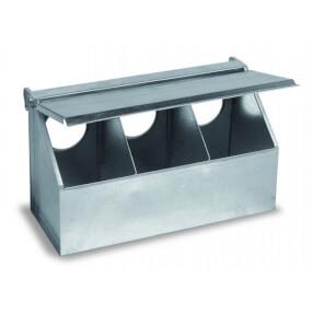 FARMTIGER - Futterautomat für Tauben und Rebhühner, 3 Abteile, Futtersilo, Futtertrog