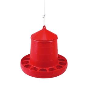 Kunststoff Geflügel Hopper 12 Kg Red