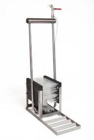 VINK - Stiefelreiniger 5 Bürste mit Wasseranschluss aus Edelstahl, Reinigungsgeräte für Stiefel, Schuhputzer