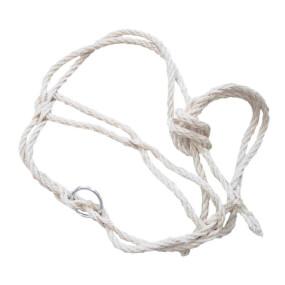 Strickhalfter Poly weißdoppelt mit Ring
