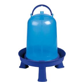 """Geflügeltränke """"Eco"""" 5 Liter mit Stand Füße – Blau, Geflügeltränke"""