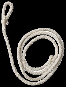 HAC - Kuhseil weiß Sisal standard 240 cm, Rinder